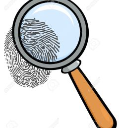 magnifying glass with fingerprint stock vector 12493543 [ 1071 x 1300 Pixel ]