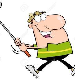 happy golfer running stock vector 12775313 [ 1300 x 1074 Pixel ]