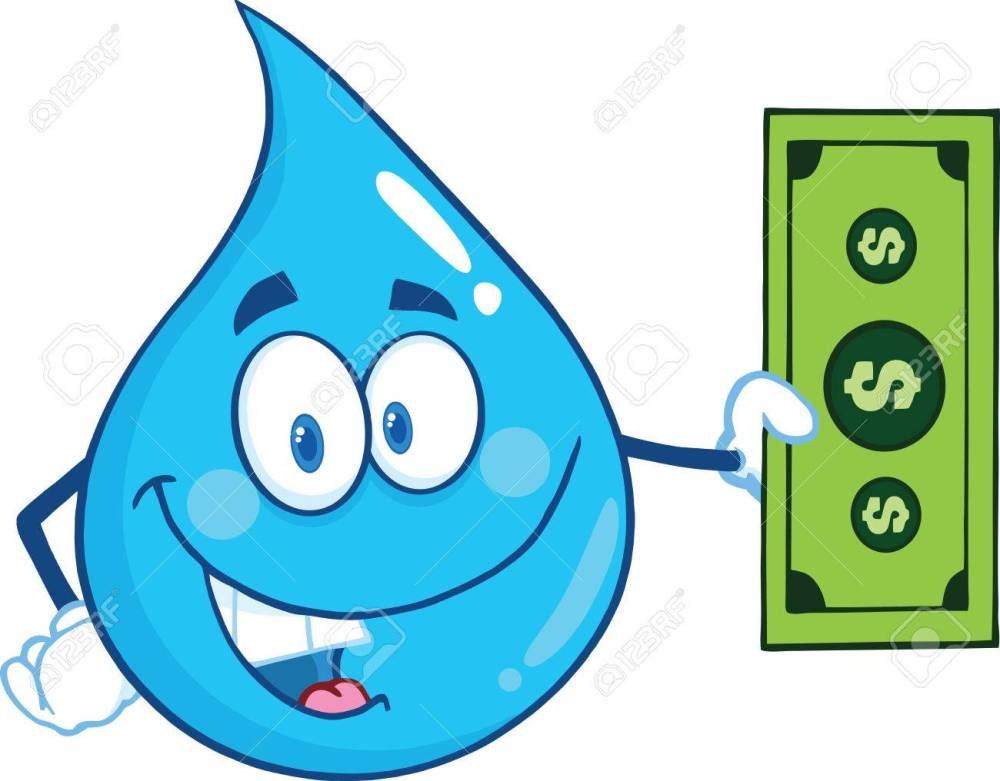 medium resolution of vector water drop character showing a dollar bill illustration isolated on white background