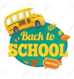 welcome back to school autumn vector background stock vector 61931030 [ 1300 x 1300 Pixel ]