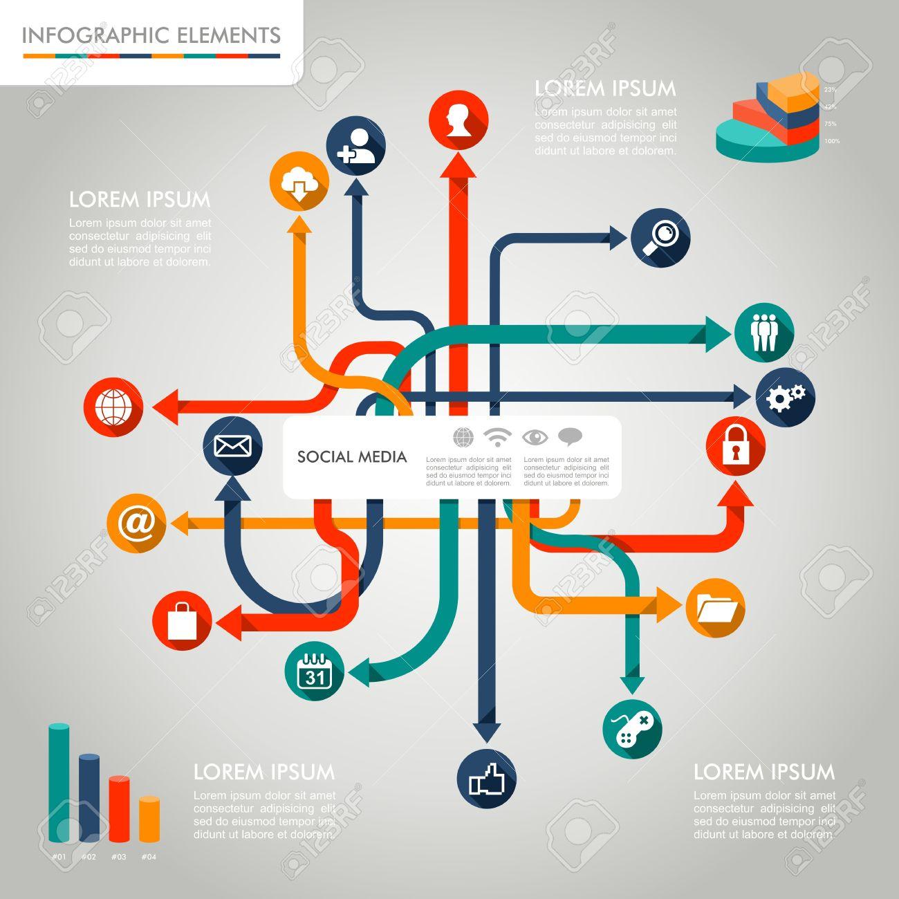 social media networks infographic