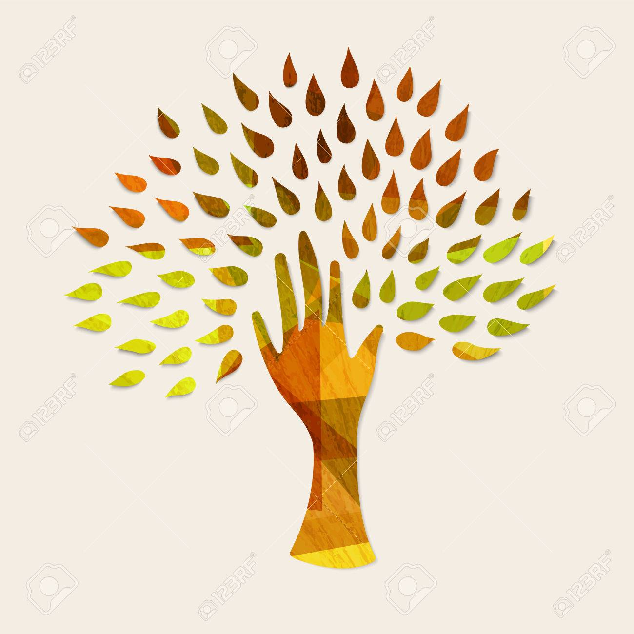 hand tree art with