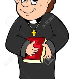 happy priest [ 712 x 1300 Pixel ]