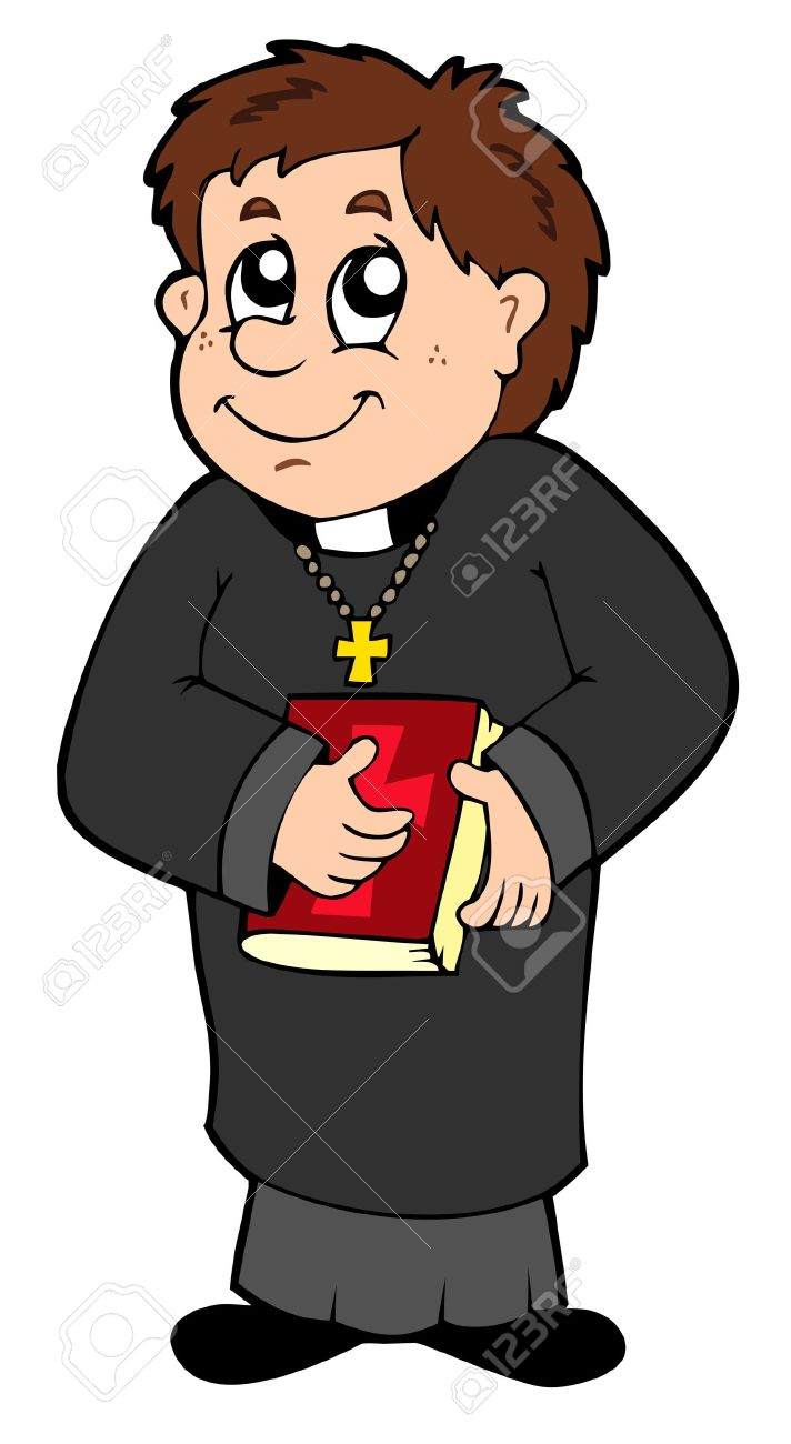 hight resolution of happy priest