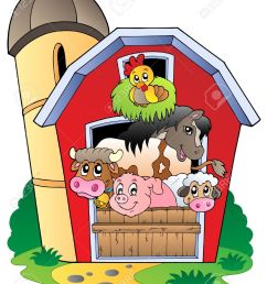 barn with various farm animals vector illustration stock vector 9674347 [ 1031 x 1300 Pixel ]