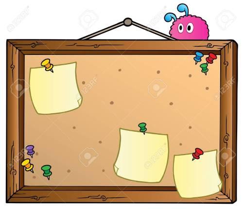 small resolution of cartoon bulletin board stock vector 9864300