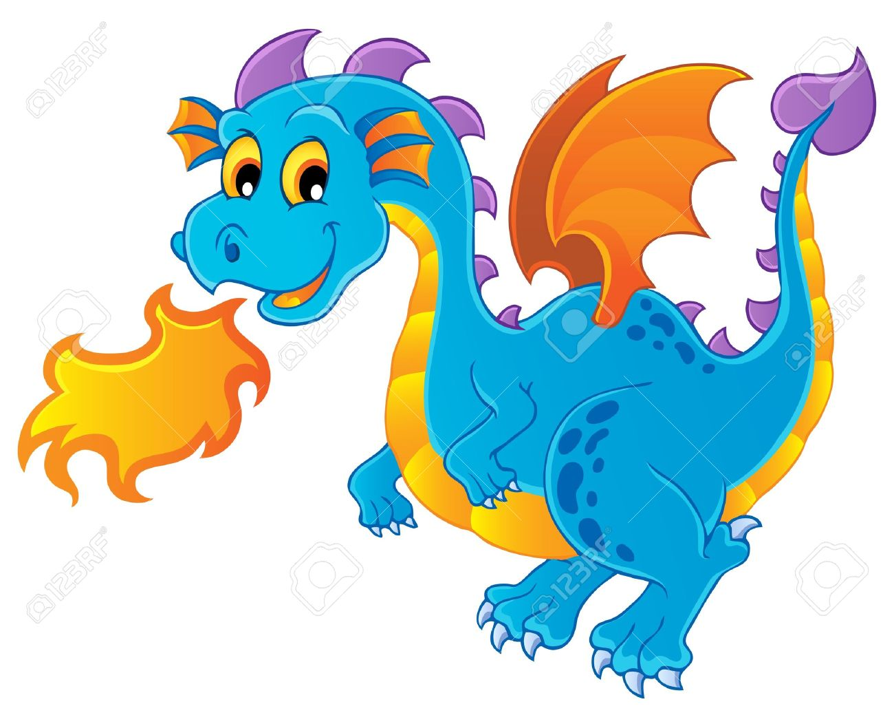 hight resolution of dragon theme image 4 vector illustration stock vector 15045940