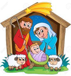 christmas nativity scene 2 stock vector 16272971 [ 1268 x 1300 Pixel ]