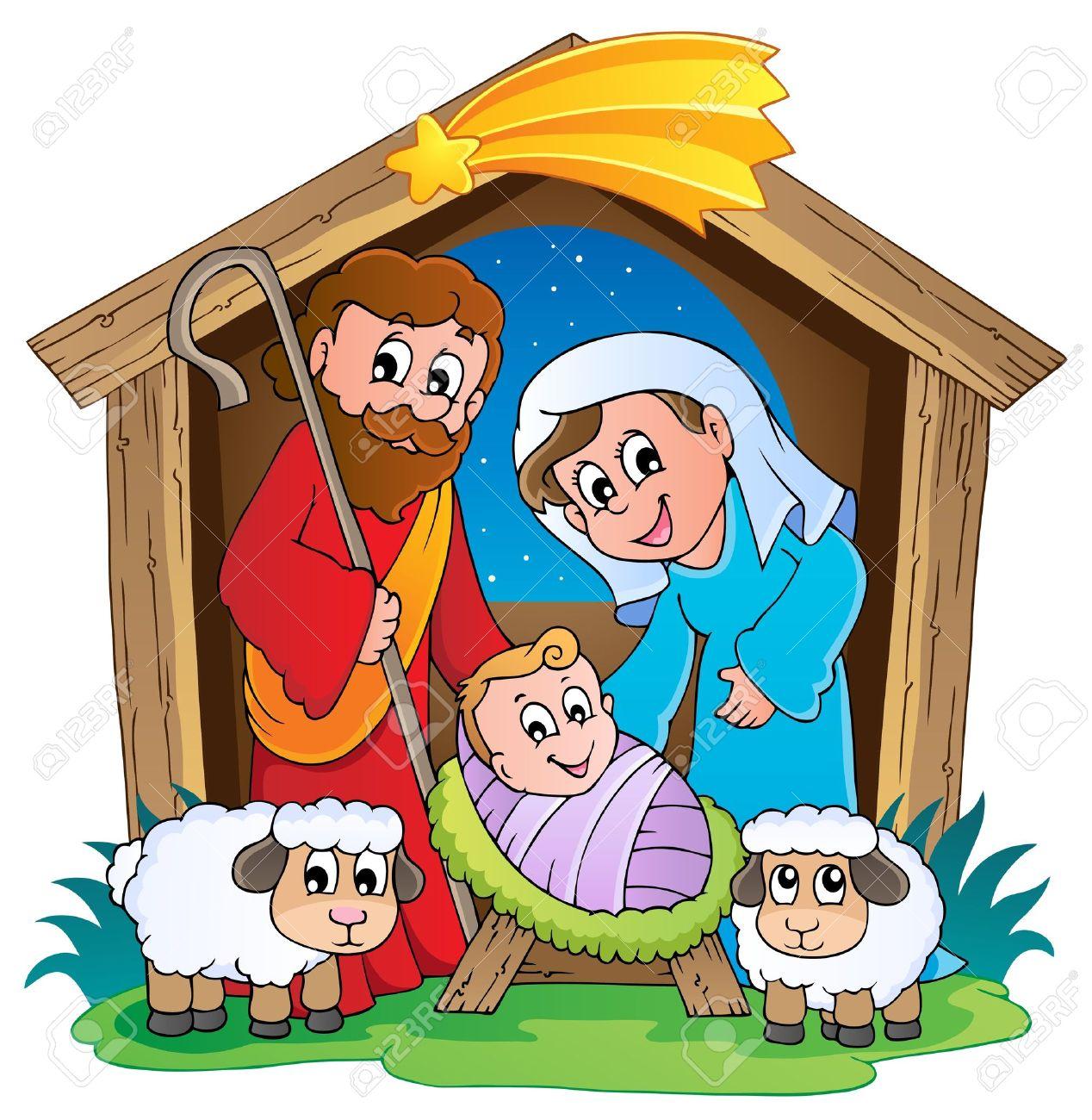 hight resolution of christmas nativity scene 2 stock vector 16272971