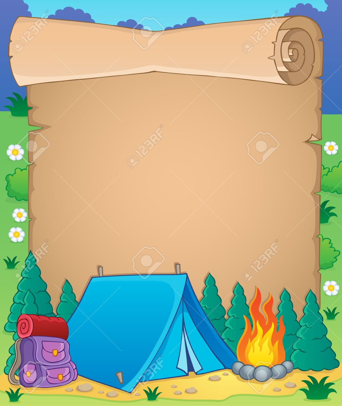 Camping Background Clipart