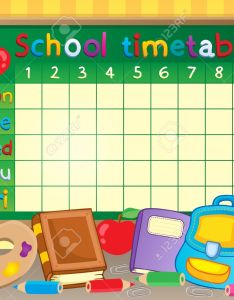 School timetable theme stock vector also royalty free cliparts vectors and rh rf