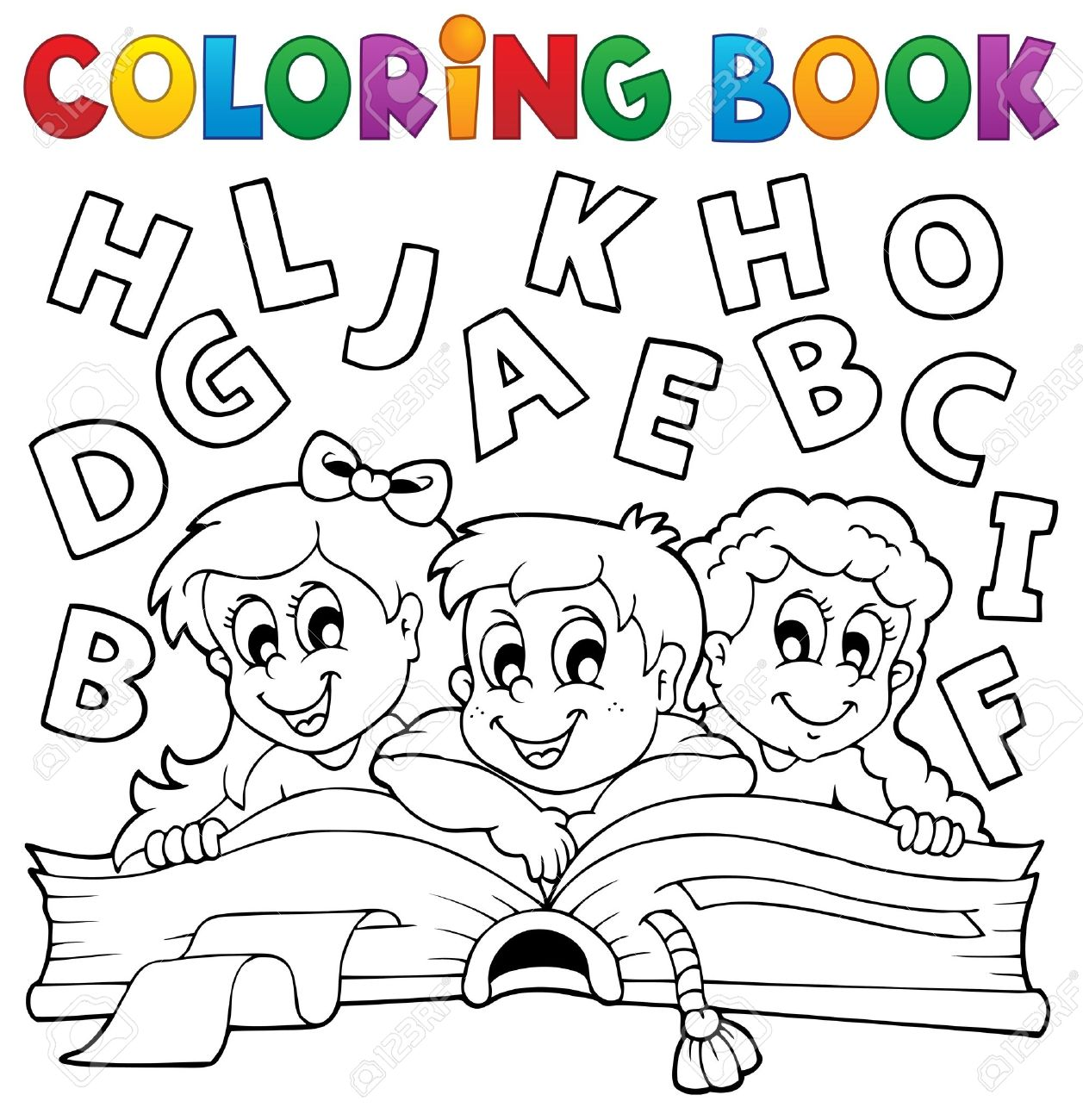 Coloring Book Kids Theme Eps Vector Illustration Stock Vector