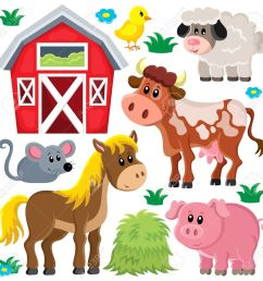 farm animals set 2 eps10 vector illustration stock vector 39562807 [ 1300 x 1285 Pixel ]