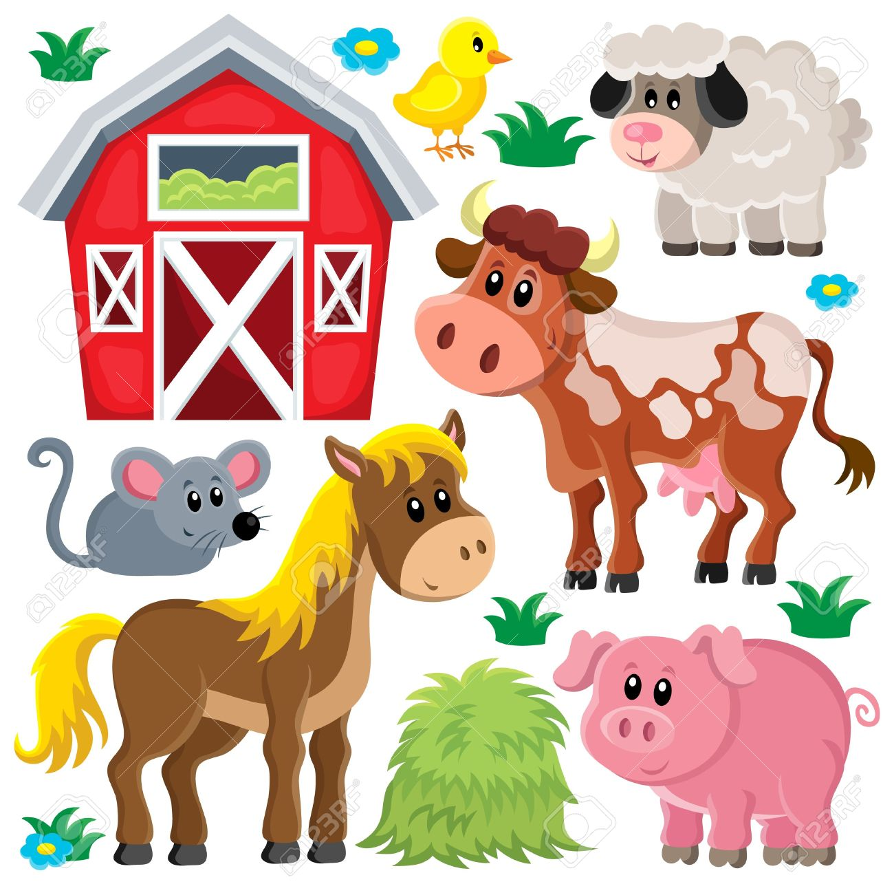 hight resolution of farm animals set 2 eps10 vector illustration stock vector 39562807