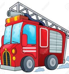 fire truck theme image 1 vector illustration stock vector 40216446 [ 1300 x 1221 Pixel ]
