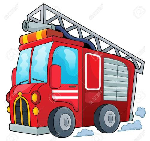 small resolution of fire truck theme image 1 vector illustration stock vector 40216446
