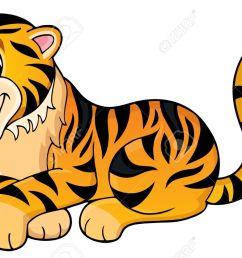 tiger theme image 1 vector illustration  [ 1300 x 835 Pixel ]