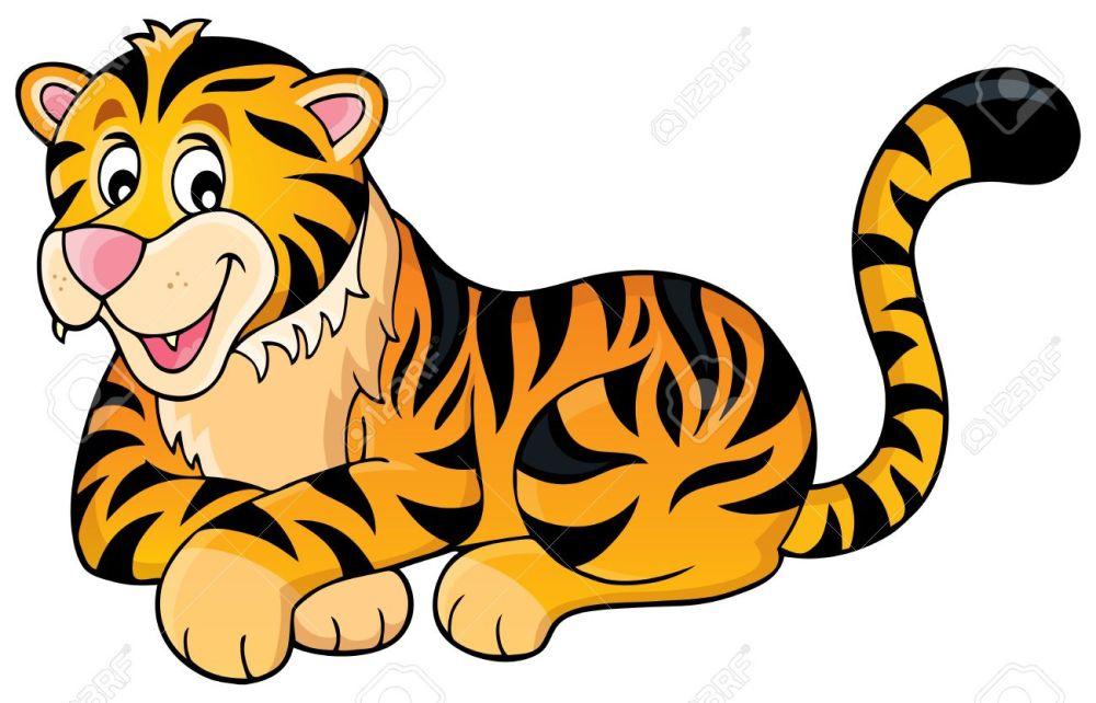 medium resolution of tiger theme image 1 vector illustration