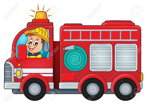 small resolution of fire truck theme image vector illustration stock vector 48681116