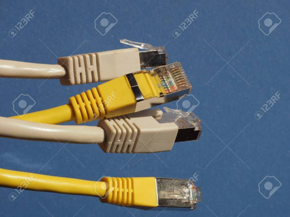 medium resolution of rj45 plug for lan local area network ethernet connection stock photo 96487720