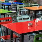 Colorful Outdoor Cafe Tables Stock Photo Picture And Royalty Free Image Image 64754354