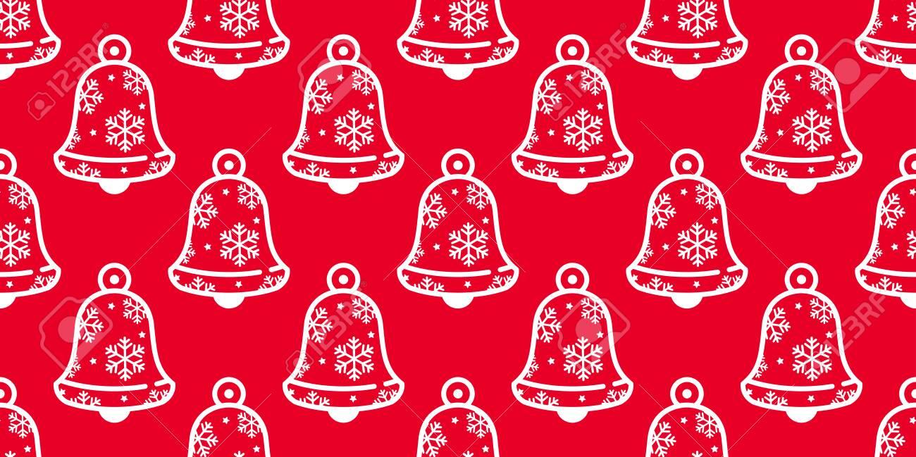 bell seamless pattern christmas vector snowflake ring bell icon scarf isolated tile background repeat wallpaper cartoon illustration red design lizenzfrei nutzbare vektorgrafiken clip arts illustrationen image 139899651