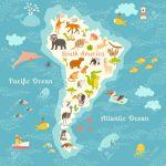 Animals World Map Sorth America Vector Illustration Preschool Royalty Free Cliparts Vectors And Stock Illustration Image 65979655