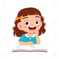 Happy Cute Kid Girl Study With Smile Royalty Free Cliparts Vectors And Stock Illustration Image 138519705