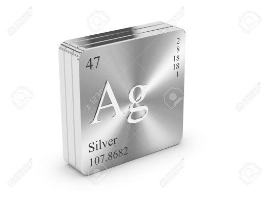Tin silver periodic table periodic diagrams science silver element of the periodic table on metal steel block stock urtaz Gallery