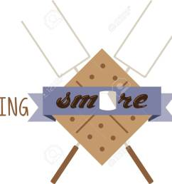 use this smores kit on a camping shirt for your favorite little camper stock vector [ 1300 x 1000 Pixel ]