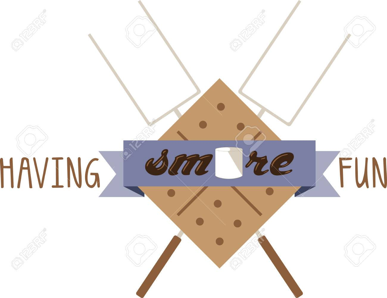 hight resolution of use this smores kit on a camping shirt for your favorite little camper stock vector