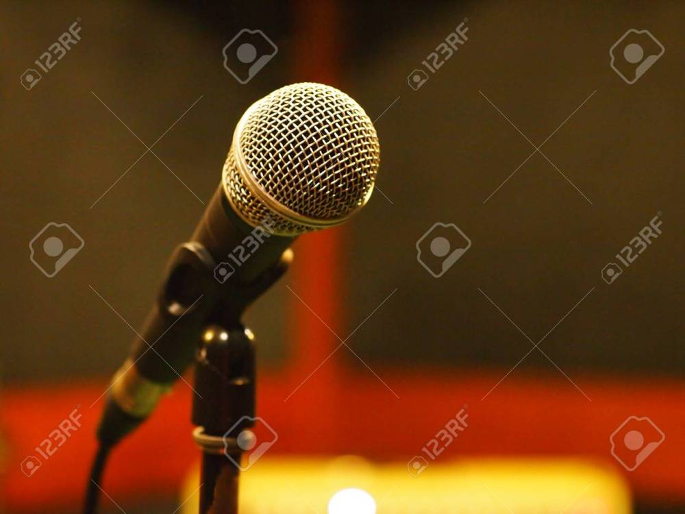 medium resolution of dynamic microphone with standards xlr wiring in studio stock photo