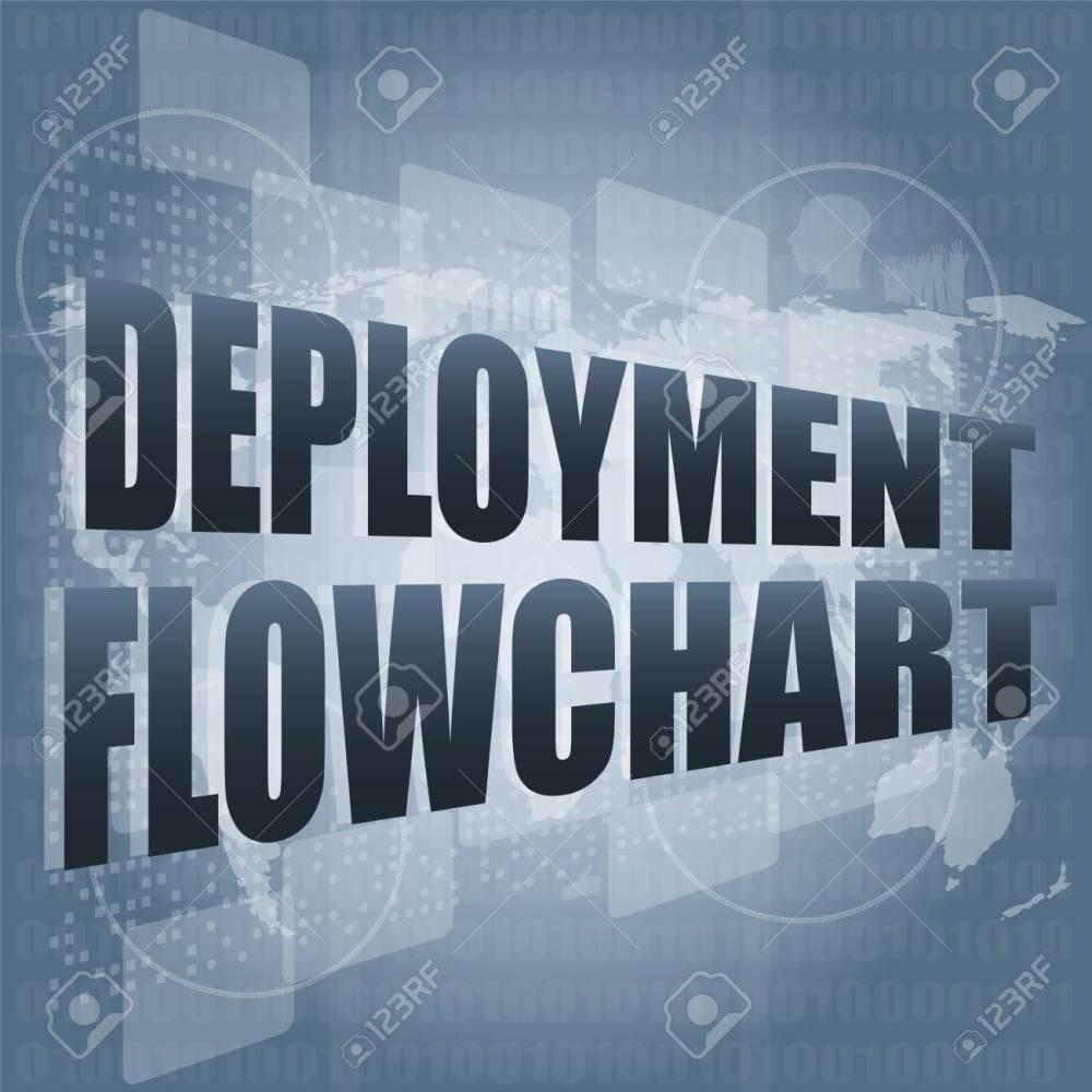 medium resolution of diagrama de flujo de despliegue en la pantalla t ctil digital de negocios foto de archivo