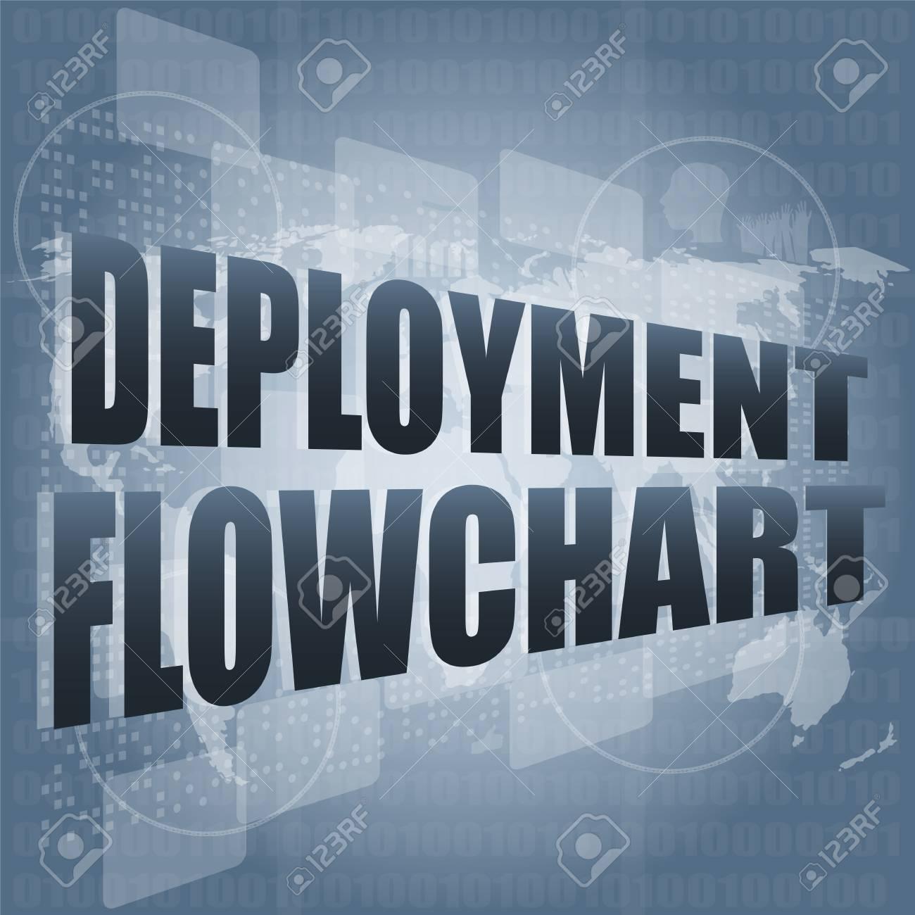hight resolution of diagrama de flujo de despliegue en la pantalla t ctil digital de negocios foto de archivo