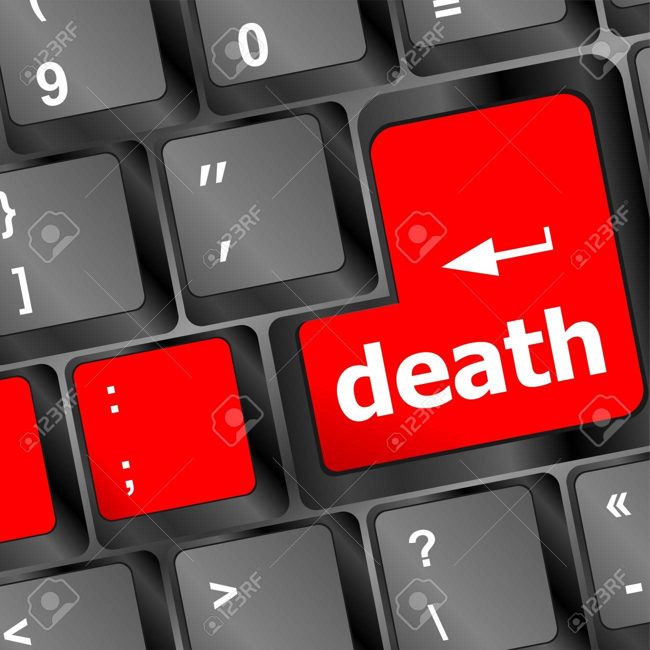 death button on computer
