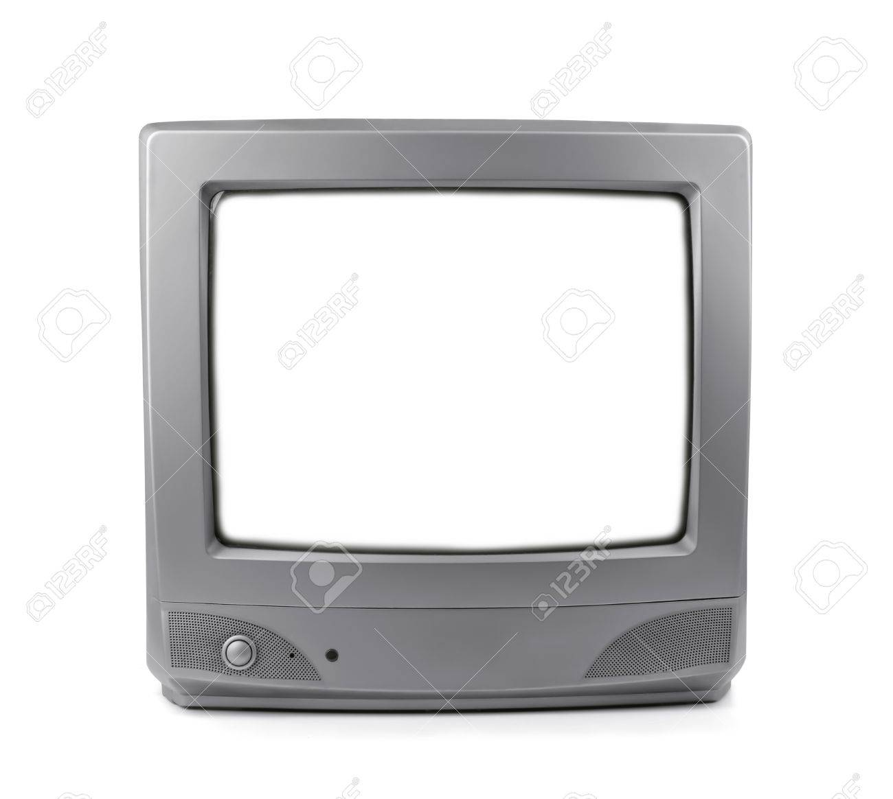 old crt tv with