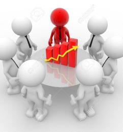 3d people men person with financial chart diagram business success concept stock [ 1300 x 968 Pixel ]