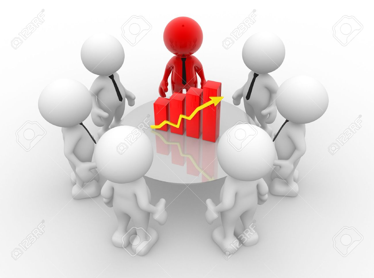 hight resolution of 3d people men person with financial chart diagram business success concept stock