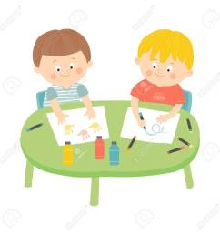 children drawing in art class stock vector 69431000 [ 1300 x 1300 Pixel ]
