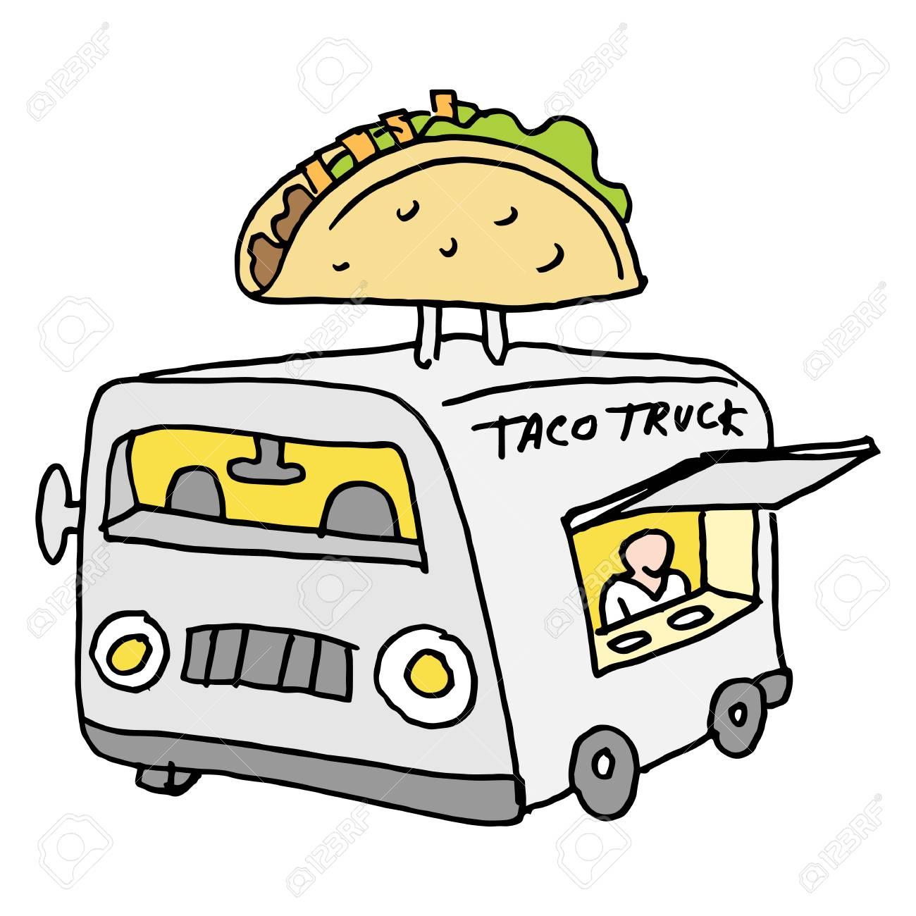 hight resolution of an image of a mexican taco food truck stock vector 55943049