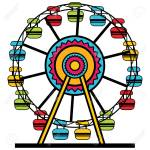 An Image Of A Colorful Ferris Wheel Amusement Park Ride Royalty Free Cliparts Vectors And Stock Illustration Image 96512502