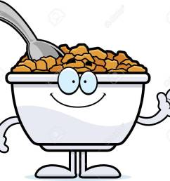 a cartoon illustration of a bowl of cereal waving stock vector 55004705 [ 1300 x 1127 Pixel ]