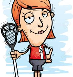 a cartoon illustration of a woman lacrosse player looking confident stock vector 102007136 [ 920 x 1300 Pixel ]