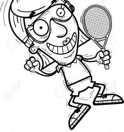 a cartoon illustration of a senior citizen woman racquetball player jumping stock vector 102270756 [ 952 x 1300 Pixel ]