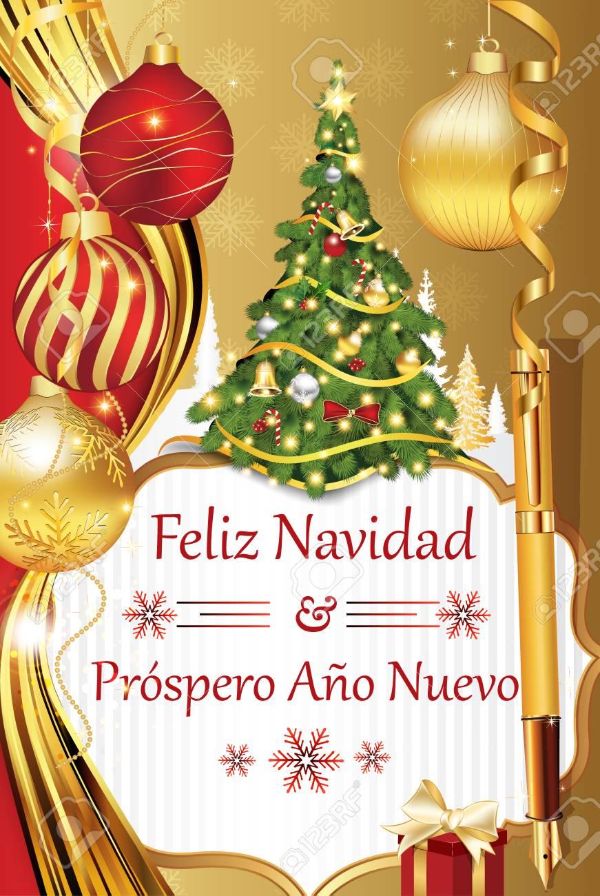feliz navidad y prospero