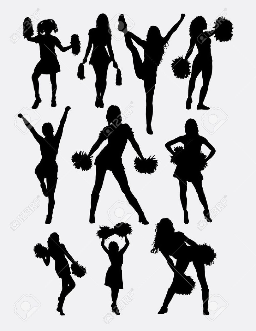 medium resolution of girl cheerleader pose silhouette good use for symbol logo web icon character