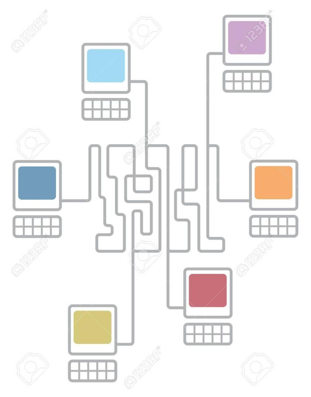 medium resolution of complex computer network connecting diagram stock vector 19177362