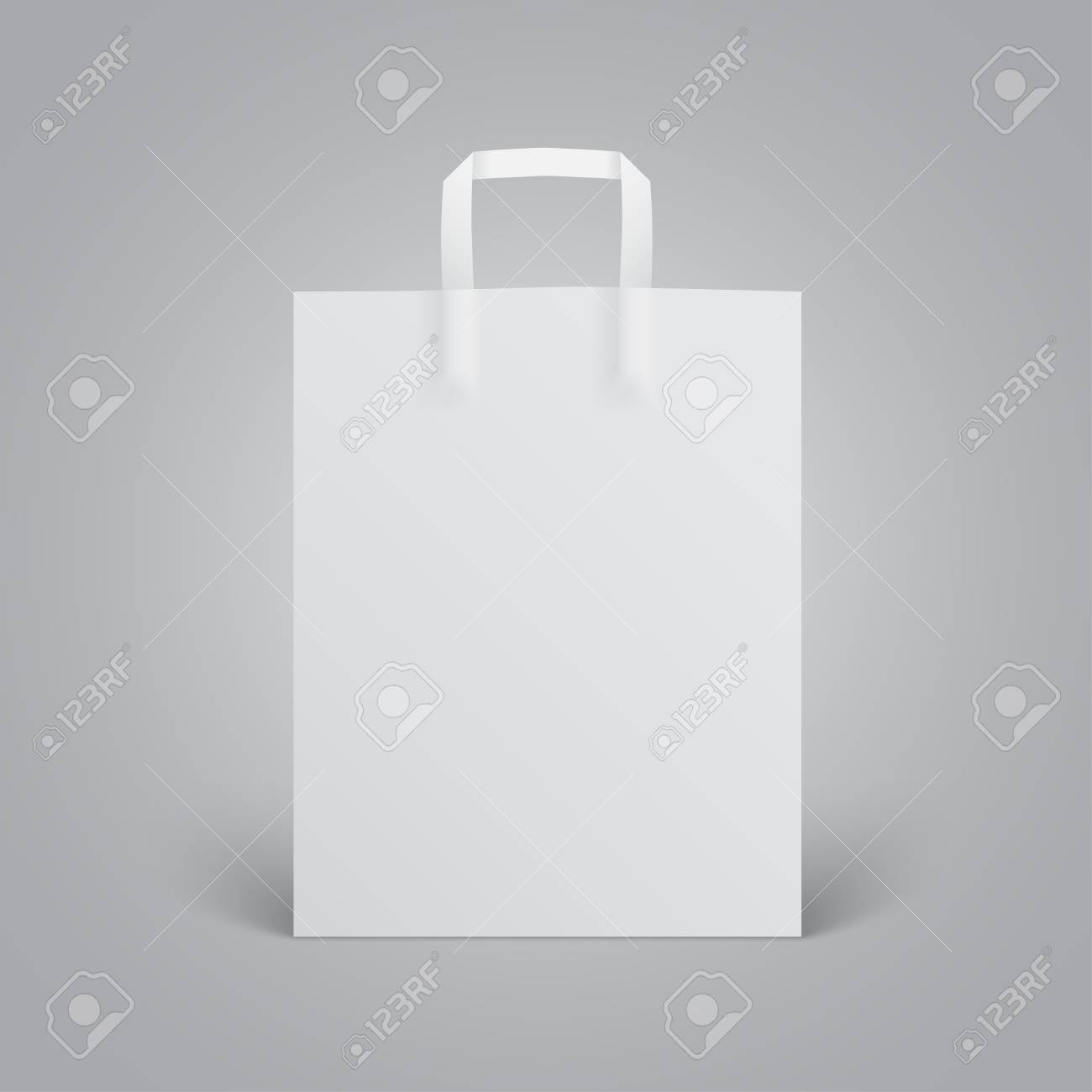 So work on your shopping bag designs with the free shopping bag mockup psd files which can be downloaded and edited like. White Paper Bag Mockup With Handles On Grey Background Royalty Free Cliparts Vectors And Stock Illustration Image 72740215