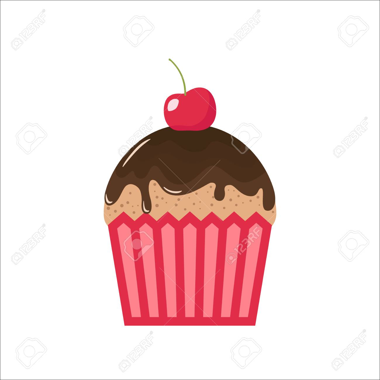 hight resolution of cartoon chocolate cupcake with cherry on top clipart cupcake cartoon chocolate topping and cherry