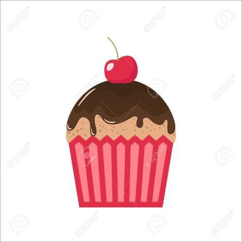 small resolution of cartoon chocolate cupcake with cherry on top clipart cupcake cartoon chocolate topping and cherry